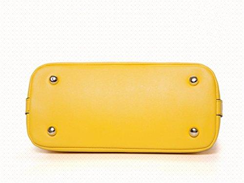 Señora Yellow De De Cuero Messenger Messenger De Bolso Hombro Simple XDDB Lemon qRw4ISaI