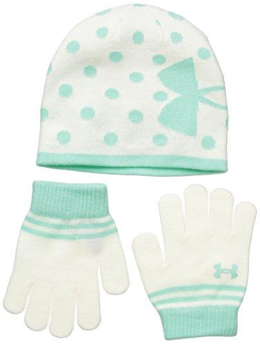 Under Armour Girls' Knit Beanie Glove Combo,Ivory,4-7 Yea...