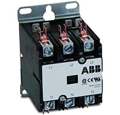 ABB, DP40C3P-1, 3 Pole, 40 Amps, 120VAC Coil, Definite Purpose Contactor