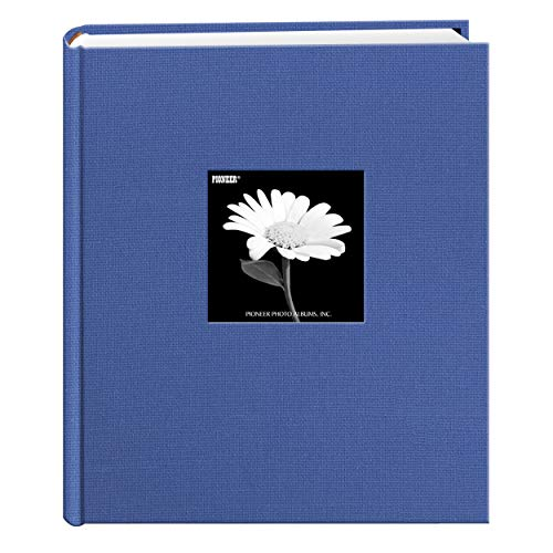 200 Pocket Album - Fabric Frame Cover Photo Album 200 Pockets Hold 5x7 Photos, Sky Blue