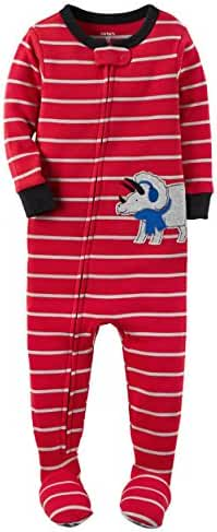 Carters Baby Boys Snug Fit Cotton Footie Pajamas Red Rhino, 2T