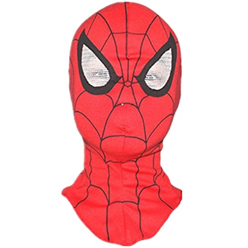 R-LivE Beanies Face Mask Costume Crossbones Cap Boys Girls Party Hats Spiderman Red