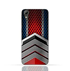 HTC Desire 728 TPU Silicone Case With Geometric Mesh Pattern Design