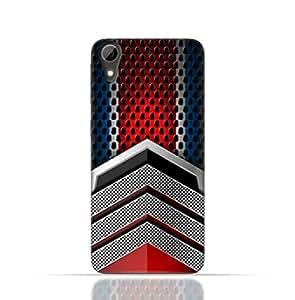 HTC Desire 826 TPU Silicone Case With Geometric Mesh Pattern Design