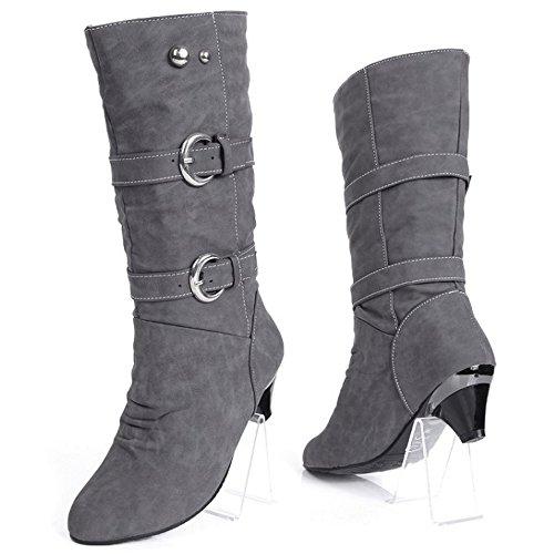 Grey Women Pull Boots Mid Classic On Melady wYnU4qzxZx