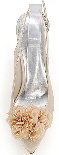 CFP , Sandales Compensées femme - beige - champagne,