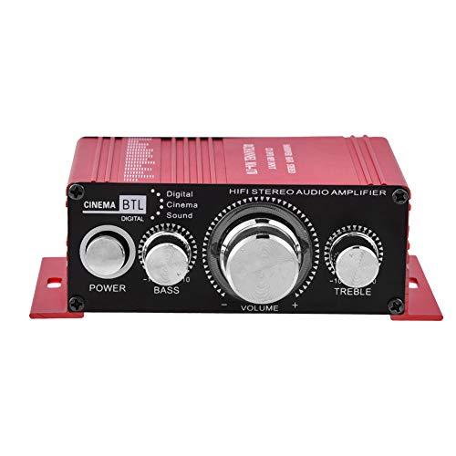 Auto Stereo Audio Versterker, Mini 12 V 2 Kanaals HiFi Stereo Bass Audio Eindversterker Digitale Amp