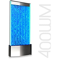 "Wall Mount LED Bubble Wall Panel Indoor Fountain Water Feature 45"" 400WM Aquarium Water Fall"