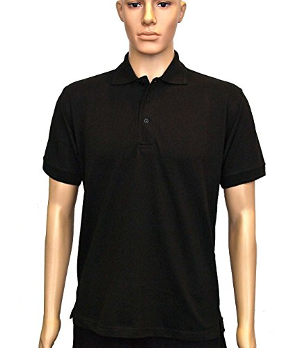 Uneek uc109poliestere/cotone unisex Essential Pique Polo da uomo, S, colore: nero
