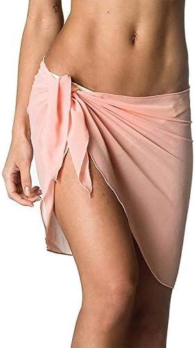LHSTWQU Mujeres Playa Bikini Cover Up Pareo Gasa Wrap Falda Sarong ...