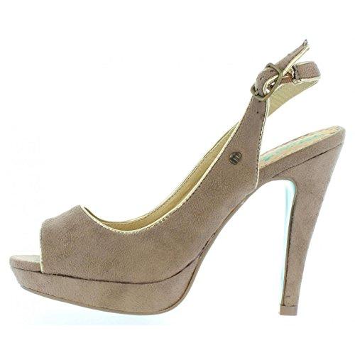 Schuhe ferse für Damen MTNG 55211 AFELPADO PIEDRA-ORO