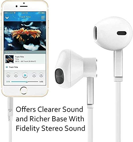 【2 Pack】 Headphones Ear Phones Ear Buds/Earphones, Noise Islating, High Definition, Fits All 3.5mm Interface Stereo for Samsung, iPhone,iPad, iPod and Mp3 Players 41cKo6OxC4L