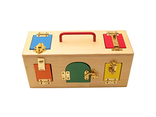 Montessori Practical Life Material - Little Lock Box (10 locks, doors and latches)