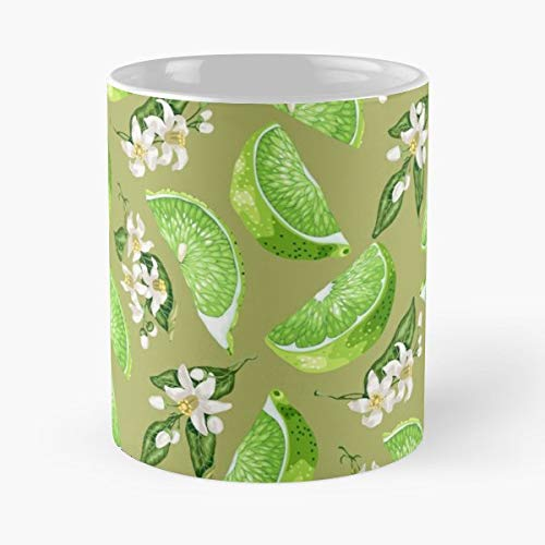 (Vector Leaf Drawing Summer Seamless Pattern Ornament Graphic Textile Background Floral Design Wallpaper Garden Print Fabric A - Coffee Mug-11 Oz,white Unique Birthday Gift-the Best Gift For Holidays.)