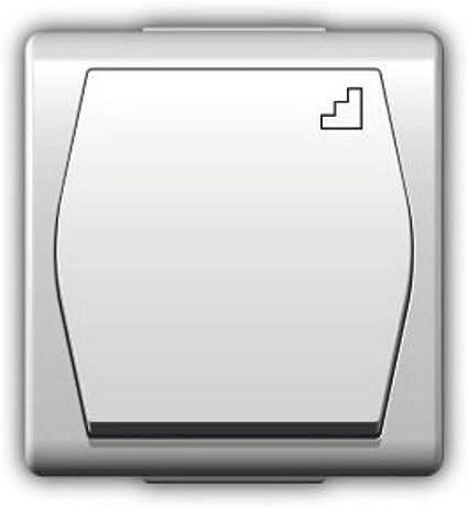 Naka24 Treppenschalter 1003-00 Hermes 2-Interruptor para escaleras, protección IP44, Color Blanco: Amazon.es: Bricolaje y herramientas
