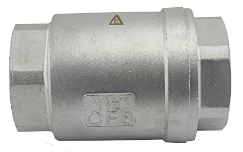 (Duda Energy VCV-WOG1000-F150 Vertical Check Valve, 304 Stainless Steel, 1-1/2