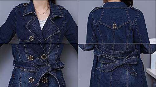 Cappotto Denim Gladiolusa Da Giubbotto Lunga Donna Jeans Giacche Casual Giacca Blu Outerwear Di Cardigan ISgIB