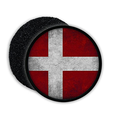 Denmark Danish Copenhagen monarchy state flag badge coat of