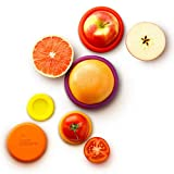 Food Huggers Set of 5 Reusable Silicone Food Savers (Autumn Harvest) - Patented Product