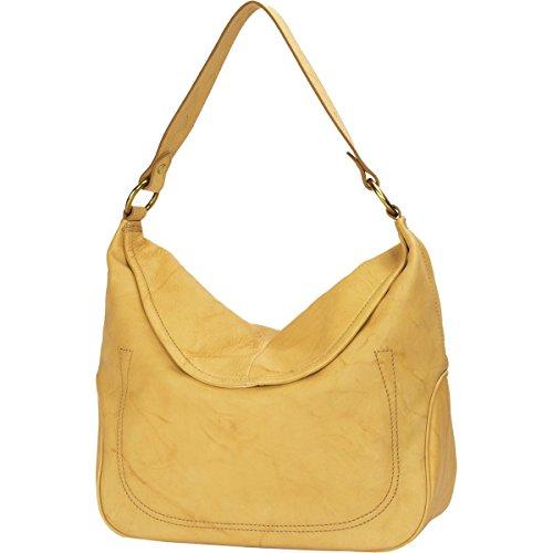 Frye FRYE Campus Large Rivet Hobo Leather Shoulder Bag,