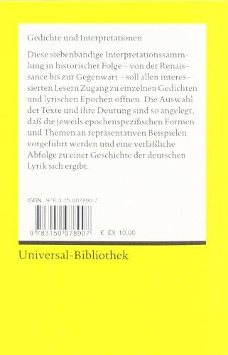 Gedichte und Interpretationen // Gegenwart I /(Reclams Universal ...