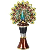 J Strongwater Peacock Wine Stopper w/Holder
