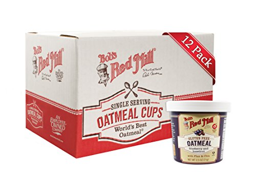 Bob's Red Mill Gluten Free Oatmeal Cup Blueberry & Hazelnut (Pack of 12)