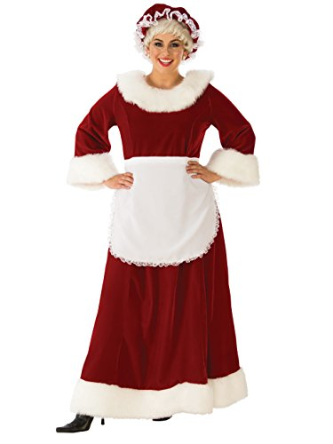 Rubie's Women's Plus Size Regal Mrs. Claus Costume, Red/White