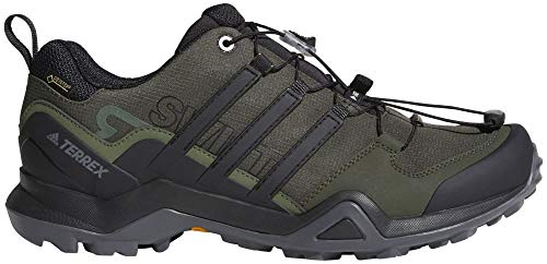 adidas outdoor Terrex Swift R2 GTX Mens Hiking Boots, Night Cargo/Black/Base Green, 10.5