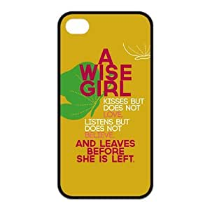 iPhone 4/4S Case, Wisdom Hard TPU Rubber Snap-on Case for iPhone 4 / 4S