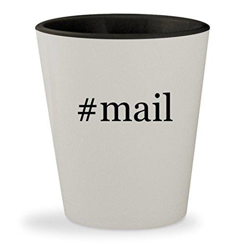 #mail - Hashtag White Outer & Black Inner Ceramic 1.5oz Shot