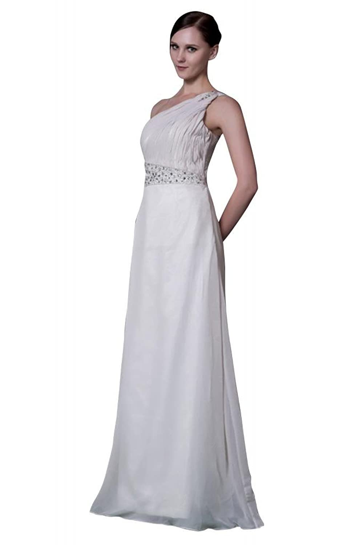 GEORGE BRIDE Elegant One Shoulder Floor-Length Wedding Dress/ Evening Dress