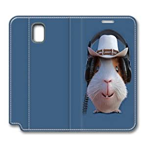 Children's Guinea Pig Cowboy Smart Case Cover with Back Case for Samsung Galaxy Note 3/N9000