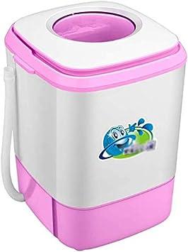 FMDJXD-XiYiJi Lavadora Portatil, Mini Lavadora con Función De Giro Y El Temporizador De 6kg, Dos Colores Opcionales (Color : Pink)