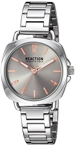 Kenneth Cole REACTION Women's Quartz Metal and Stainless Steel Casual Watch, Color:Silver-Toned (Model: RK50100002)