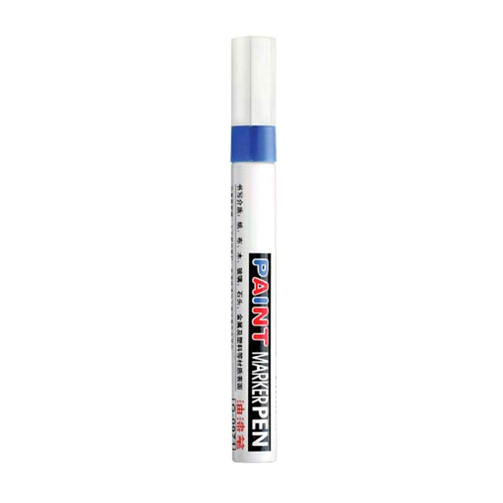 5 x Auto-Lackstifte Reifen Glas /Ölstift f/ür Metall Papier blau Permanent-/Öl-Lackmarker Graffiti-Lack Holz wasserfest