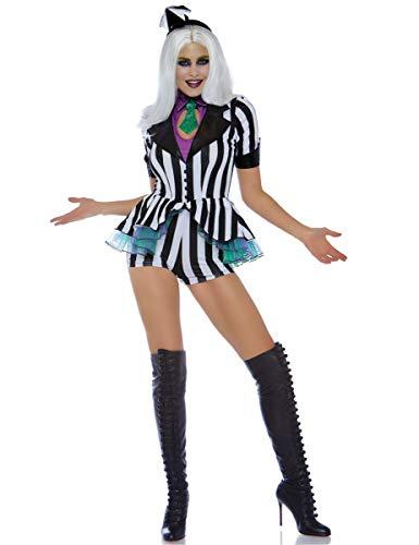 Leg Avenue Womens Beetle Babe 80s Halloween Costume, Black/White Medium ()