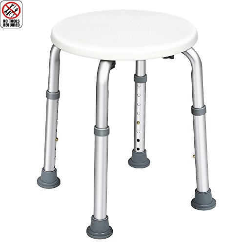 JCMASTER Bathtub Shower Stool for Handicapped and Seniors, Lightweight Bath Chair, Round price