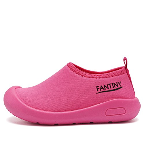 CIOR Kids Slip-on Casual Mesh Sneakers Aqua Water Breathable Shoes For Running Pool Beach (Toddler/Little Kid) SC1600 Red 24 1