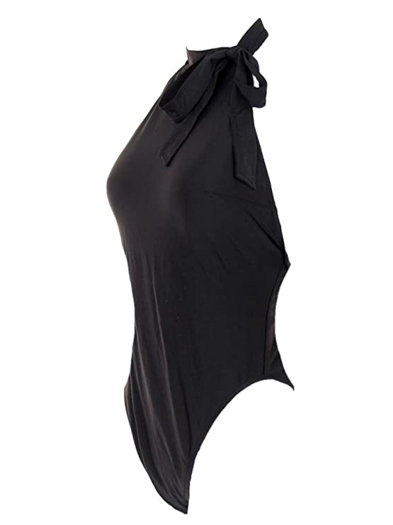 ab98b75bccd3f J Crew Halter Bow-Tie One-Piece Swimsuit Bathing Suit Black G1737 Sz 4 at  Amazon Women's Clothing store: