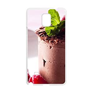 Cases for Samsung Galaxy Note 4, Chocolate Cake Cases for Samsung Galaxy Note 4, Jumphigh White