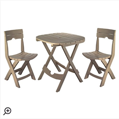 Quebec 3 piece bistro set portobello green ankles for Outdoor furniture quebec