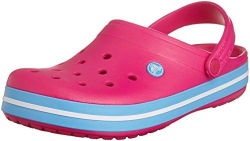 Crocs Crocband Clog, Zuecos con Correa, Unisex Rosa (Candy Pink/Bluebell 6EF)