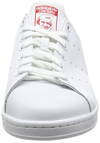 Zapatillas Adidas White Blanco Stan running running Smith collegiate Ftw Unisex Originals Ftw De Red Deporte Adulto qrHrtv8