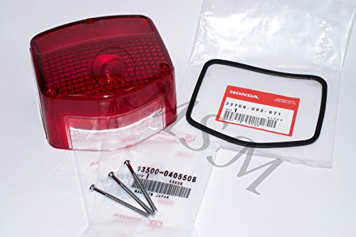 HONDA NEW TAILLIGHT TAIL LIGHT LENS w/OEM GASKET & SCREWS 0250-300GS (New Tail Light Lens)