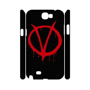 D-PAFD V for Vendetta Customized Hard 3D Case For Samsung Galaxy Note 2 N7100