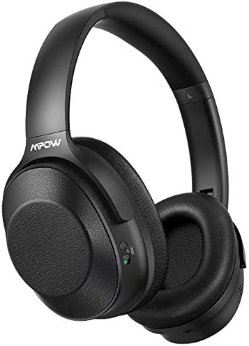 Mpow Hybrid Active Noise Cancelling Headphones, Bluetooth Headphones Over Ear with Hi-Fi Deep Bass, CVC 6.0 Microphone, Soft Protein Earpads, Wireless Headphones 30H Playtime for TV Travel Work