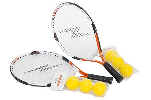 4 active n Tennis Racket for Kids, 19 inches, Includes 3 Foam Tennis Balls (2-Pack)