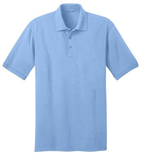 - Port & Company Men's Big And Tall Knit Polo Jersey 3X Tall- Aquatic Blue