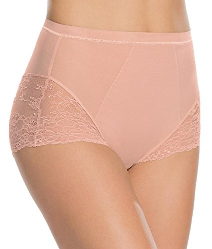 Comfort Luxe Brief (SPANX Plus Size Lace Collection Brief, 2X, Vintage Rose)